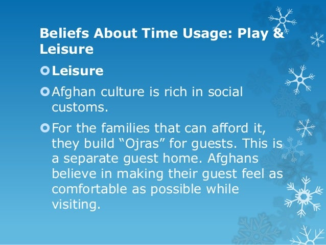 Play  Afghans are very fond of sports and games as they provide a refuge from the daily turmoil in Afghanistan.  Buzkash...