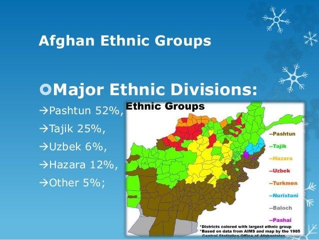 Minor Ethnic Division: Chahar Aimaqs, Turkmen and Baloch. Religious Affiliations: Sunni Muslim 84%, Shi'a Muslim 15%, ...