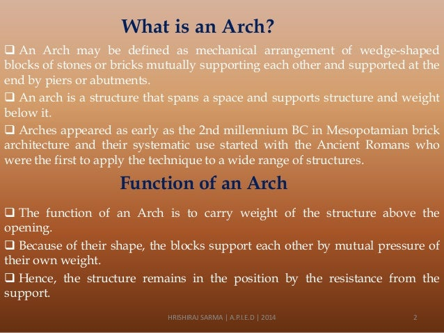 An introduction to arches Slide 2