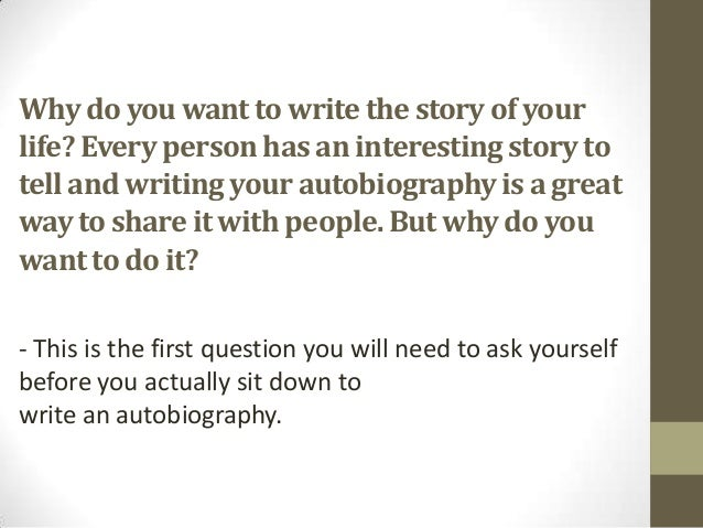 Good questions to ask someone when writing a biography of a classmate