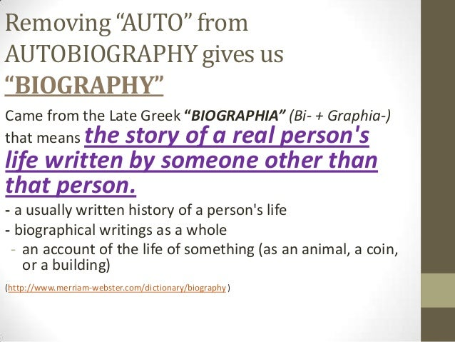 meaning of the word biography