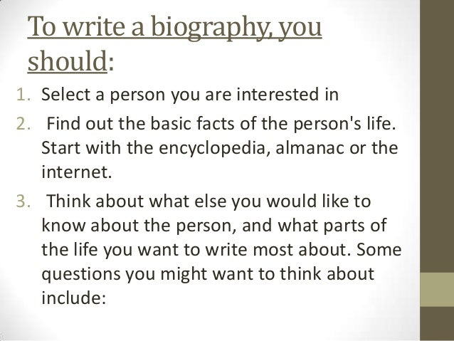 An introduction to autobiography and biography