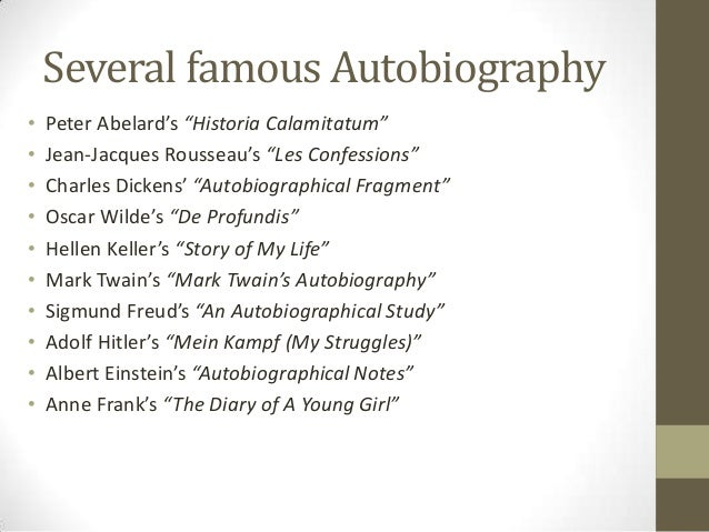 An introduction to autobiography and biography for Historical biography template