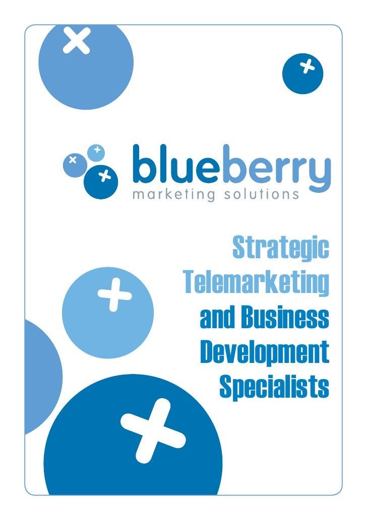 Strategic Telemarketing  and Business   Development     Specialists