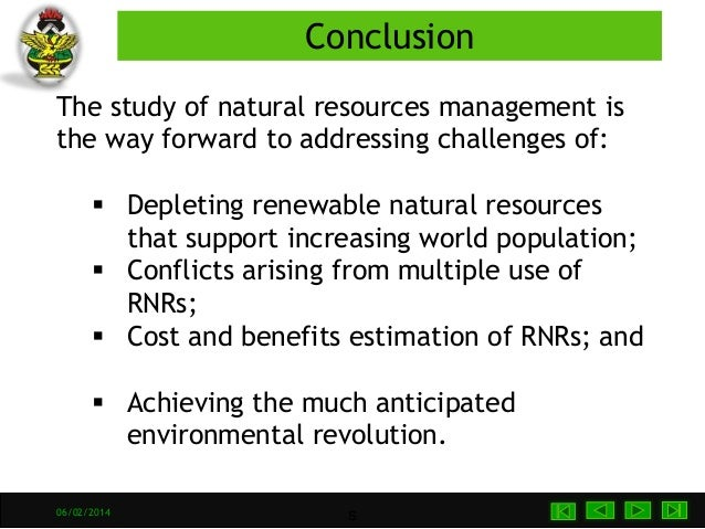 Conclusion Of The Topic Natural Resources