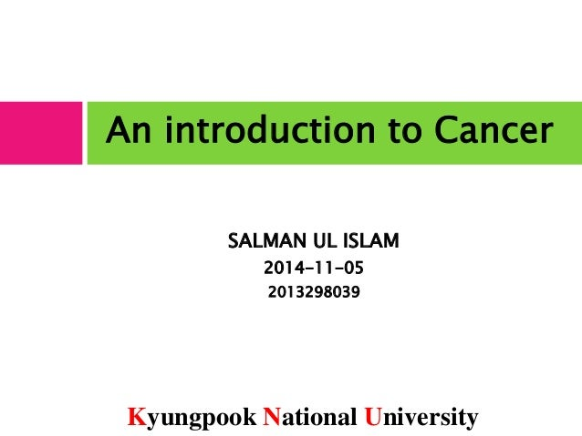 introduction of cancer Introduction to lung cancer lung cancer is the second most common cancer, accounting for about one out of five malignancies in men and one out of nine in women unfortunately, over the past several years, while the incidence of lung cancer has gradually declined in men, it has been rising alarmingly in women.