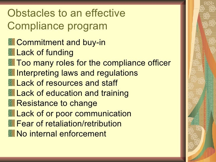 An introduction to compliance program - Compliance officer certification programs ...