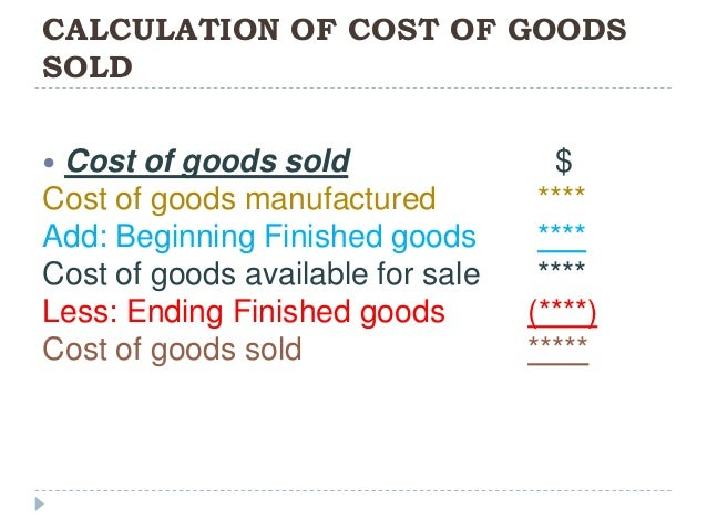 Image Result For Cost Of Goods Purchased