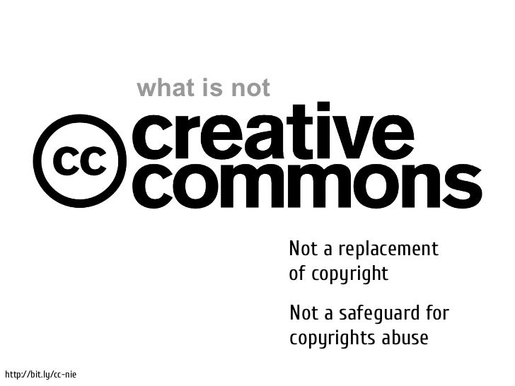 what is not                                     Not a replacement                                     of copyright        ...
