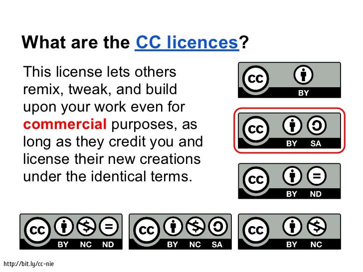 What are the CC licences?       This license lets others       remix, tweak, and build       upon your work even for      ...