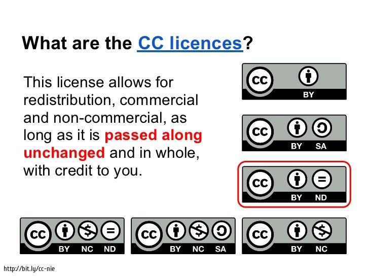 What are the CC licences?       This license allows for       redistribution, commercial       and non-commercial, as     ...