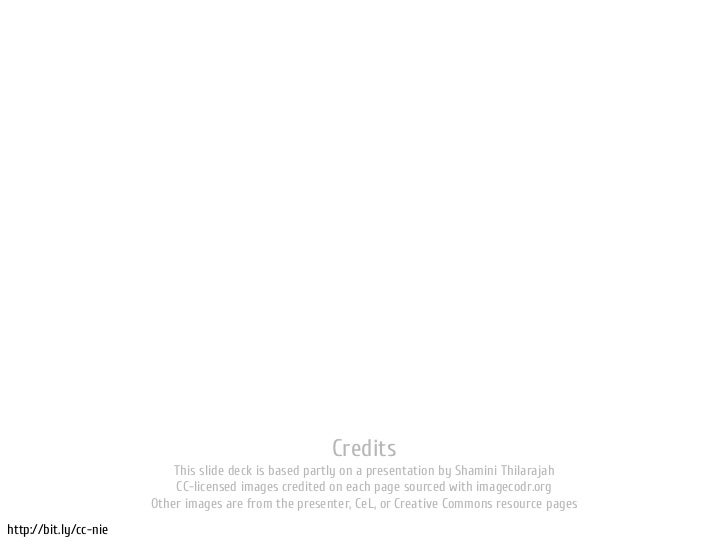 Credits                           This slide deck is based partly on a presentation by Shamini Thilarajah                 ...