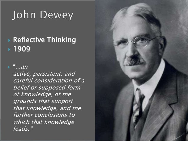 John Dewey  one of the most influential educational theorists of the  twentieth century  reminds