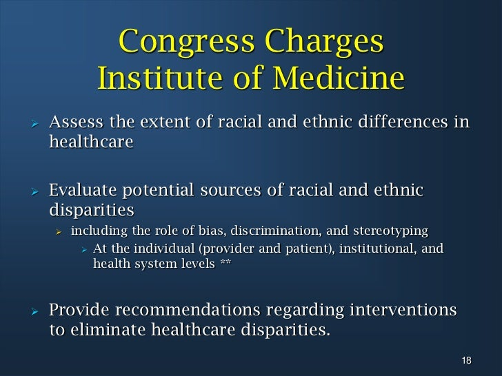 racial healthcare disparities The national healthcare disparities report (nhdr) tracks disparities in both quality of and access to health care in the united states for both the general population and for ahrq's.