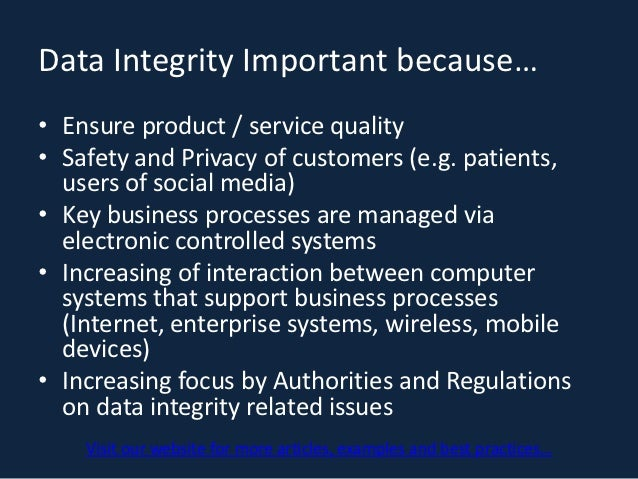 System Integrity and Validation essay