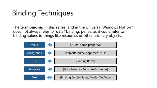 An introduction to development of universal applications