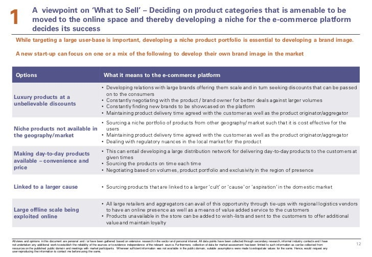 1               A viewpoint on 'What to Sell' – Deciding on product categories that is amenable to be               moved ...