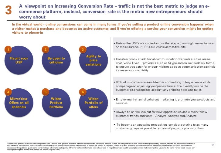 3               A viewpoint on Increasing Conversion Rate – traffic is not the best metric to judge an e-               co...