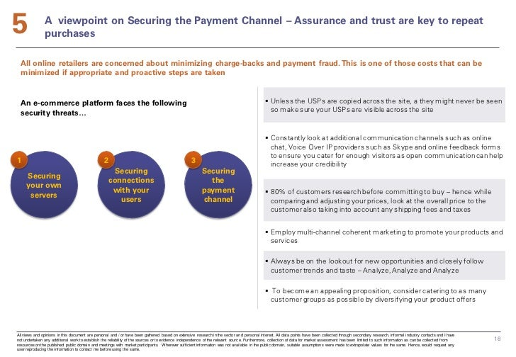 5              A viewpoint on Securing the Payment Channel – Assurance and trust are key to repeat               purchases...