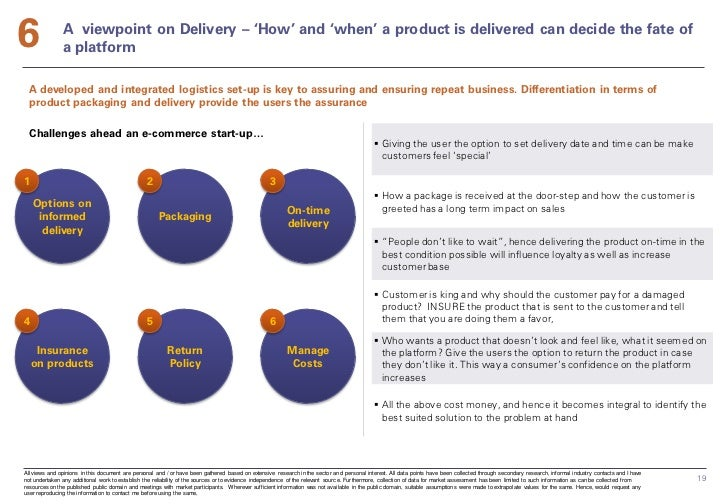 6              A viewpoint on Delivery – 'How' and 'when' a product is delivered can decide the fate of               a pl...