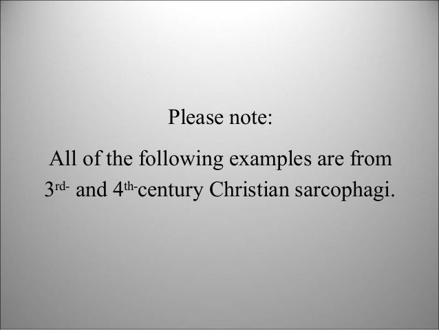 Intro to Early Christian Art Slide 2