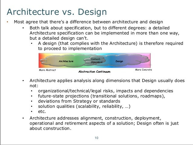 An introduction to fundamental architecture concepts