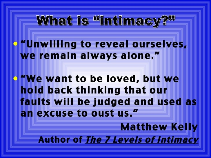 An Introduction To Intimacy What Is Intimacy