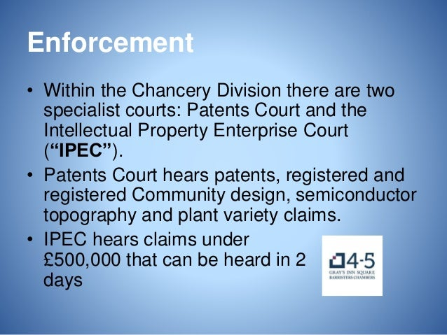 Intellectual Property Enterprise Court Chancery Division