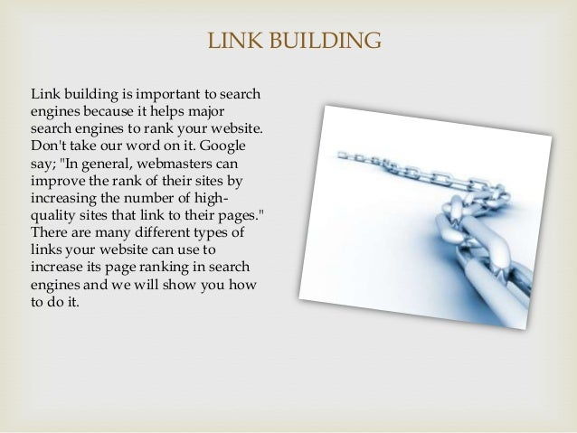 an introduction to search engine optimization Chapter content 1 introduction the first chapter presents the major topics related to search engine optimization, which will be covered in the e-book.