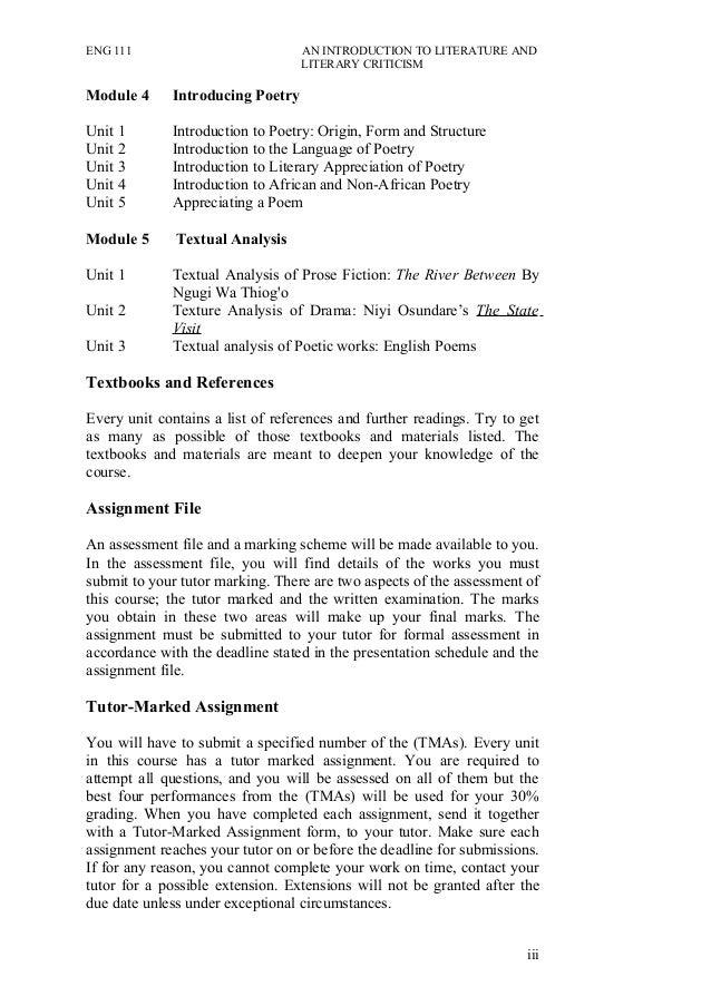 literary analysis introduction