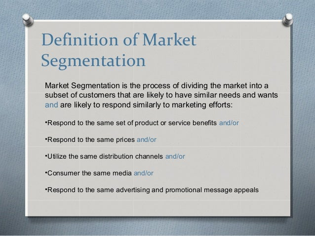 An introduction to market segmentation and targeting