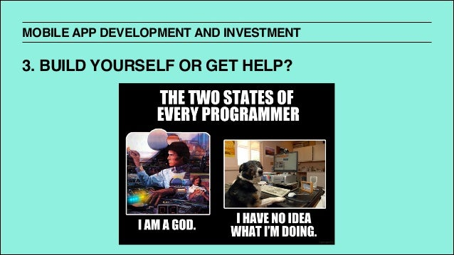 An introduction to mobile app development and investing mobile app development and investment 3 build yourself or get solutioingenieria Image collections