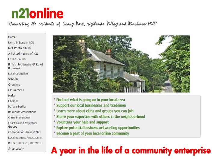 A year in the life of a community enterprise