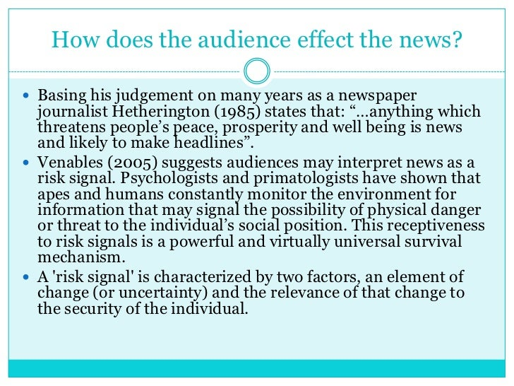 news values in journalism