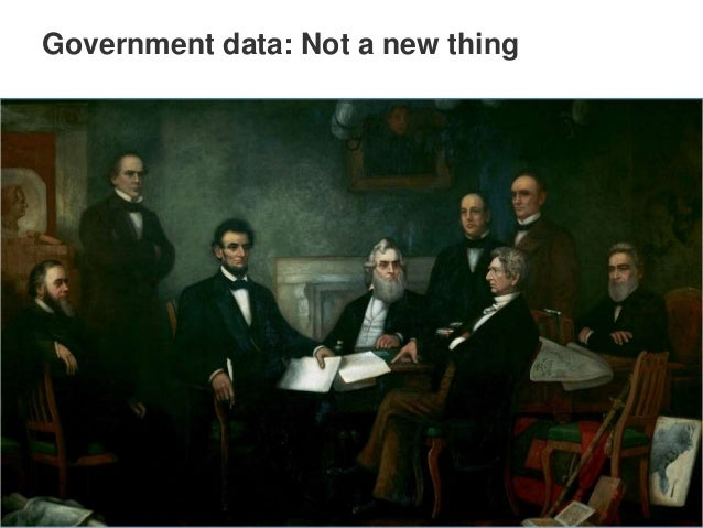 Government data: Not a new thing