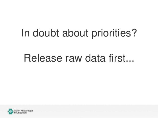 2) Data quality is not good enough. It's complicated! Response: Just clean it up!