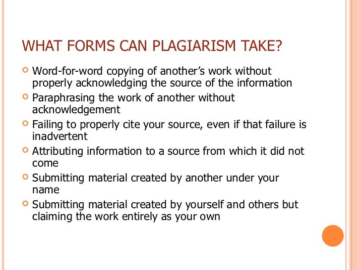 an introduction to plagiarism Introduction: read you quote it plagiarism in class results in failure on the plagiarized assignment and may result in failure of the course.
