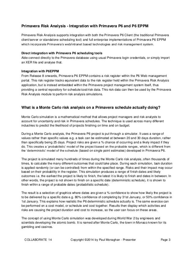 an introduction to primavera risk analysis oracle primavera p6 col rh slideshare net primavera risk analysis guide primavera risk analysis user guide pdf