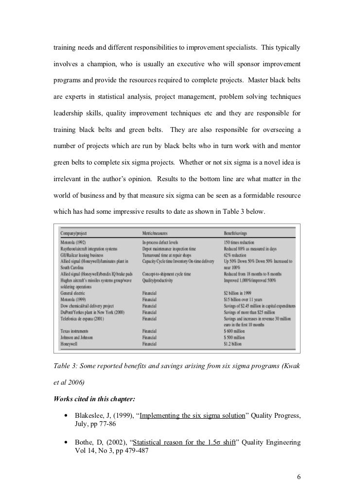introduction to six sigma pdf