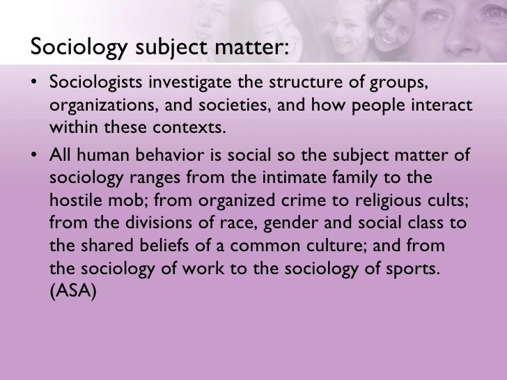 An Introduction To Sociology Slide 3