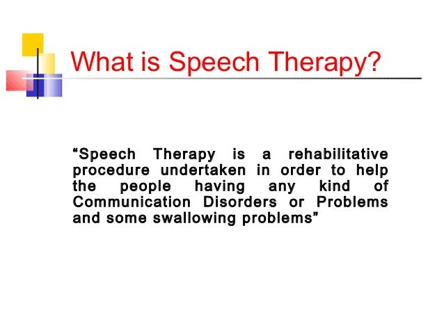 An Introduction To Speech Therapy
