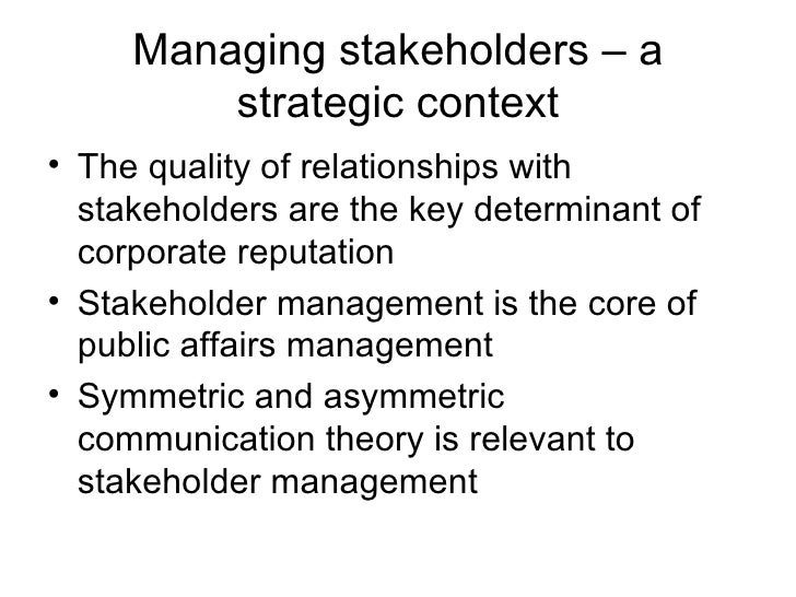 stakeholder theory Without the capacity to distinguish between the divergent organizational stakeholder interests, stakeholder theory may easily be subverted to a unitary concept.