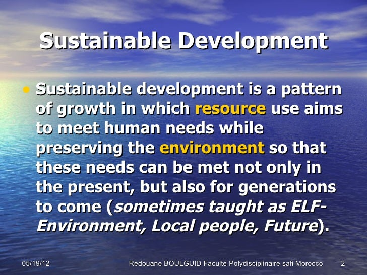 """an introduction to the concept of sustainable development The present paper presents the most important """"stages"""", where the """"actors"""" have created and defined the concept of sustainable development and its principles key words: sustainable development, environment, economic growth introduction sustainable development has become the """"buzzword"""" of both the academic and."""