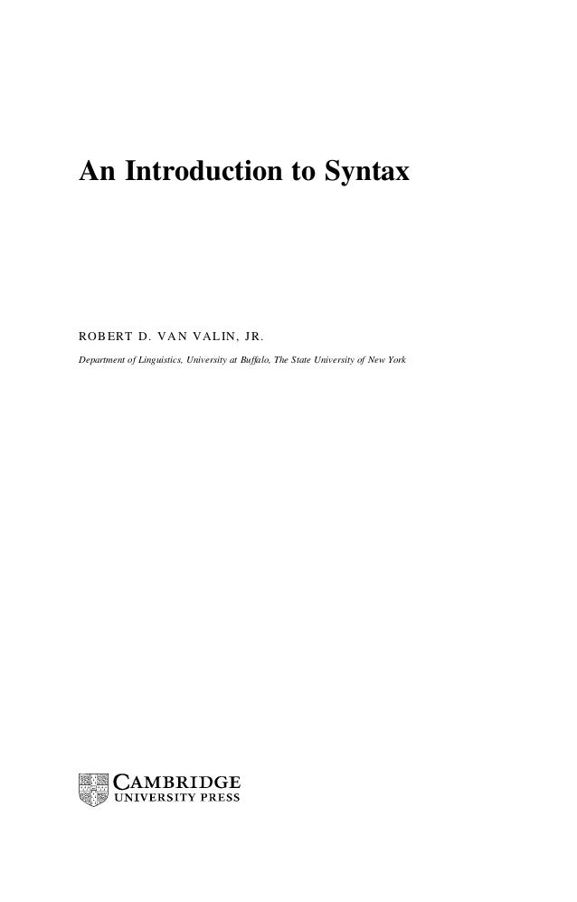 An introduction to syntax e book siip cahh