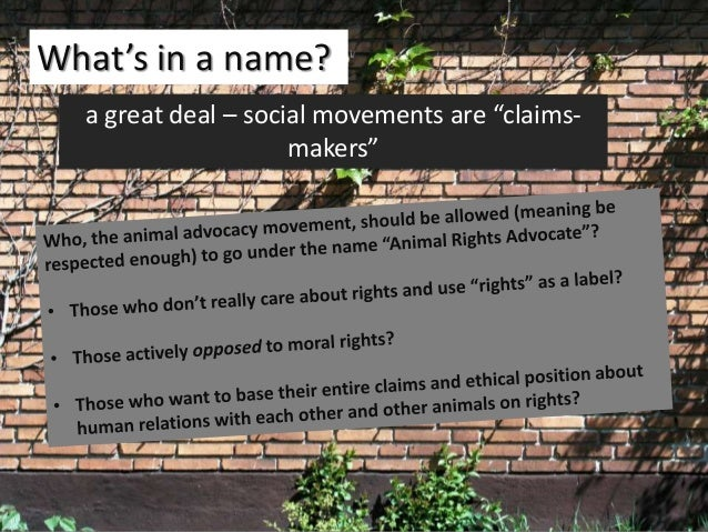 """11 What's in a name? a great deal – social movements are """"claims- makers"""""""