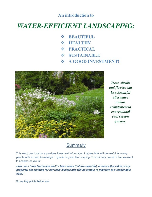 An introduction toWATER-EFFICIENT LANDSCAPING:                                        BEAUTIFUL                          ...