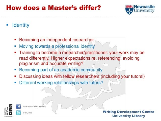 masters level writing As you may have noticed, your graduate-level writing is held to a higher standard than was your undergraduate writing not only do you now have to demonstrate that you understand an issue, but you must also articulate a position on that issue.