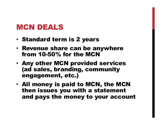 An introduction to YouTube MCNs