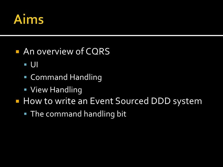 An intro to cqrs Slide 2