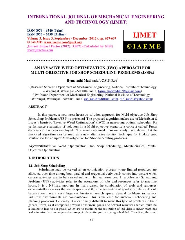 INTERNATIONAL JOURNAL and Technology (IJMET), ISSN ENGINEERINGInternational Journal of Mechanical Engineering OF MECHANICA...